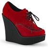 CREEPER-302 Red Vegan Suede